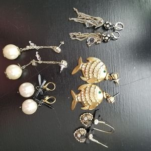 Bundle of Betsy Johnson Earrings